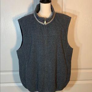 Lands End gray zip up vest